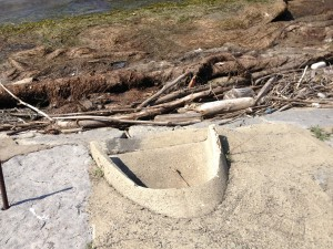 This stormwater discharge point is mentioned in Finster's report on Gallagher Beach.
