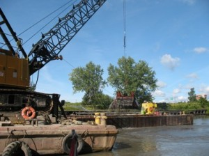More dredging of the Buffalo River started in October.