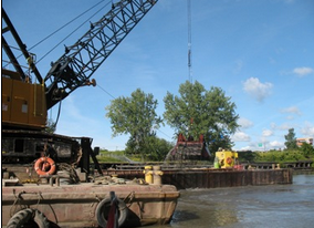 Dredging of the Buffalo River. Photo by USACE.