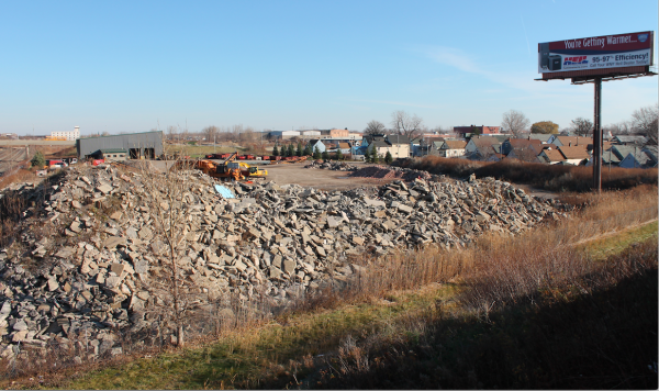 Battaglia Demolition is less than a football field from homes.