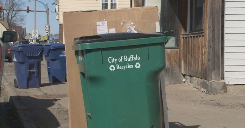 Buffalo introduced its green recycling totes in 2012