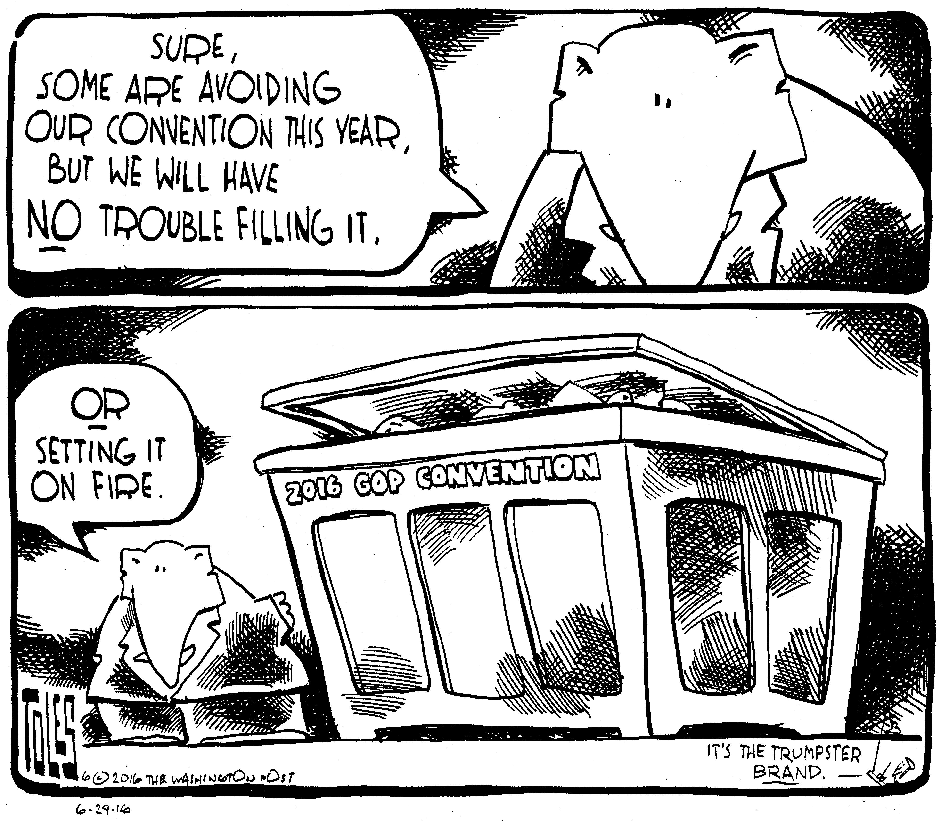 Trumpster fire…