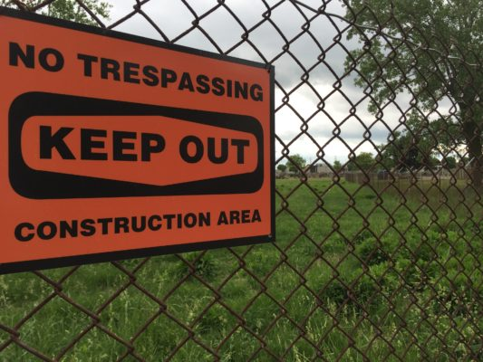 EPA fenced in contaminated land at Holy Trinity in April