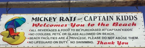 """Mickey Rats does not enforce the """"no swimming"""" rule at its beach club."""