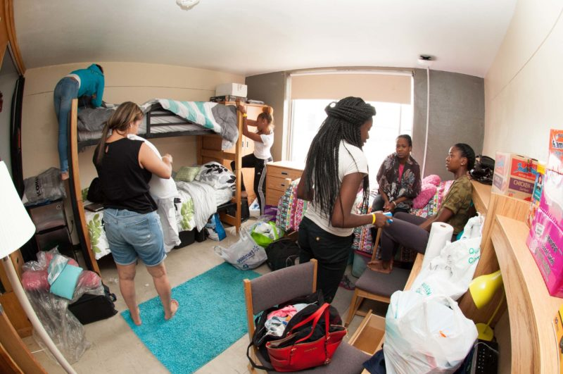 One of Buffalo State's packed dorms on campus. (photo credit: The Record)