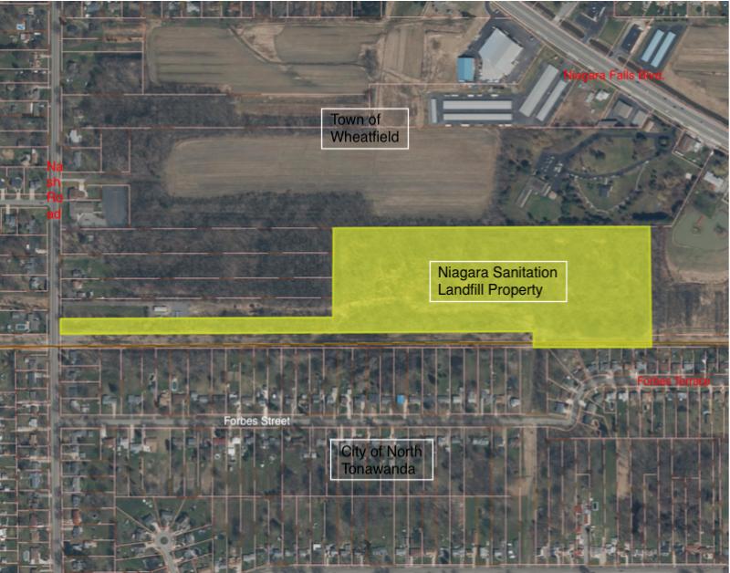 Location of landfill
