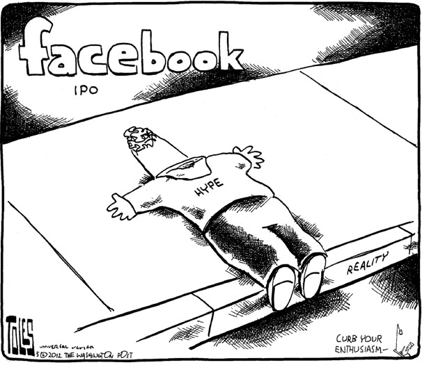 Facebook (face down) …